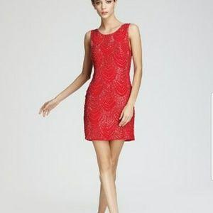 Beautiful beaded NWT Alice and Olivia red dress